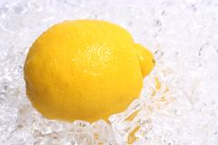 Limone su ghiaccio fotografia stock libera da diritti