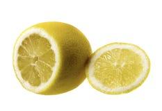 Limone su priorità bassa bianca Fotografia Stock