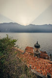 Limone sul Garda, Italy during the sunrise Stock Photography