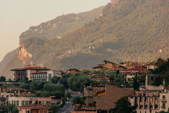 Limone sul Garda, Italy during the sunrise Stock Image