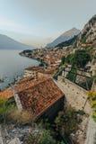 Limone sul Garda, Italy during the sunrise Stock Photos