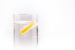 Limone in un vetro Fotografie Stock