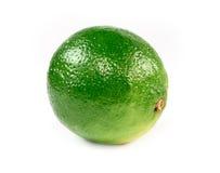 Limone verde fresco isolato Fotografia Stock