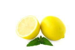 Limones aislados en blanco Fotos de archivo