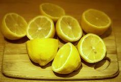 Limones amarillos Imagen de archivo libre de regalías