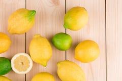 Limones Cierre para arriba Foto de archivo libre de regalías