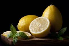 Limones de la bella arte Foto de archivo