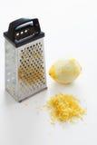 Limones de Zested en blanco fotografía de archivo libre de regalías