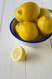Limones del corte Imagenes de archivo
