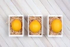 Limones en cajones Imagen de archivo