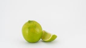 Limones en el fondo blanco Imagen de archivo