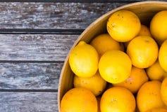 Limones en un tazón de fuente Fotos de archivo libres de regalías