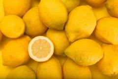 Limones, marco completo Fotografía de archivo libre de regalías
