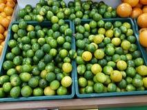 Limones verdes fotos de archivo libres de regalías