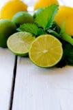 Limones y cal Imagenes de archivo