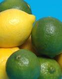 Limones y cales Fotografía de archivo libre de regalías
