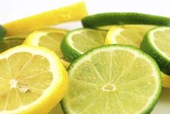 Limones y cales Fotografía de archivo