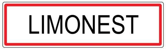Limonest city traffic sign illustration in France Stock Image