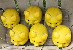 Limoni con la forma di piccoli porcellini Immagine Stock Libera da Diritti