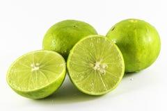 Limoni e fetta freschi,  Fotografia Stock
