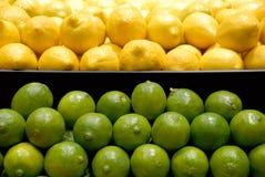 Limoni e limette Fotografia Stock Libera da Diritti