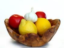 Limoni e pomodori Fotografia Stock
