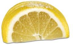 Limoni freschi su priorità bassa bianca Immagine Stock Libera da Diritti