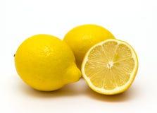 Limoni isolati su fondo bianco Fotografia Stock Libera da Diritti