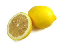 Limoni maturi freschi isolati Immagini Stock