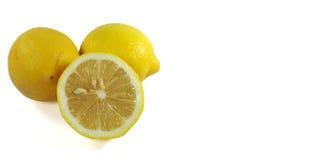 Limoni maturi freschi isolati Fotografia Stock Libera da Diritti