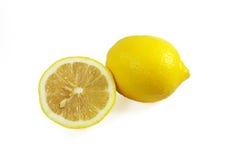 Limoni maturi freschi isolati Fotografie Stock Libere da Diritti