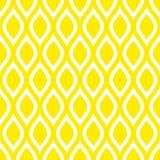 Limoni senza cuciture astratti del modello o quadrato giallo delle onde illustrazione vettoriale