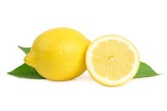 Limoni su priorità bassa bianca Fotografia Stock Libera da Diritti