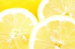 limons przecinające sekcje Obrazy Stock