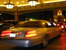 Limosine at Casino Hotel. Limosine pulling into a hotel at night Stock Photography