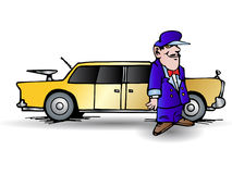 limousine οδηγών Στοκ εικόνες με δικαίωμα ελεύθερης χρήσης