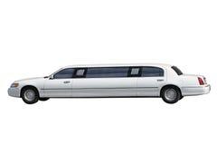 Limousine. White limousine separately on a white background Stock Photo