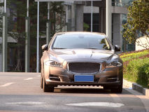 Limousine. It is a jaguar xj limousine in guangzhou china Royalty Free Stock Photo