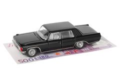 Limousine and 500 euro Royalty Free Stock Photo