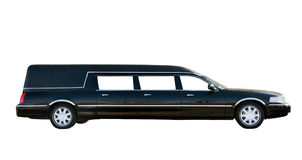 Limousine. Luxury long Limousine  isolated on white Stock Photography