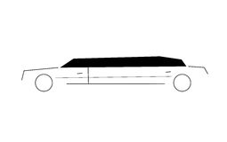 Limousine abstract. Abstract draw of a luxury limousine Stock Image