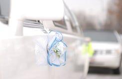 Limousine bianche di cerimonia nuziale Immagine Stock Libera da Diritti