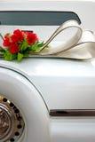 Limousine bianche di cerimonia nuziale Immagini Stock