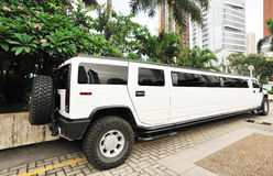 Limousine blanche Photographie stock