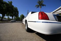 Limousine blanche en Californie Photo stock