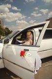 Limousine de mariage Photo libre de droits