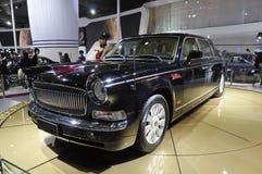 Limousine della Rosso-Bandierina Immagine Stock Libera da Diritti