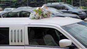 Limousine di nozze Fotografie Stock Libere da Diritti