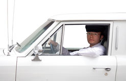 Limousine driver Stock Photo