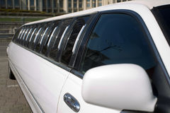 Limousine exterior. Detail of a luxury limousine exterior Royalty Free Stock Images